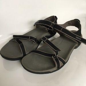 TEVA SN1006263 Verra Sandals Size 10 Black Strappy